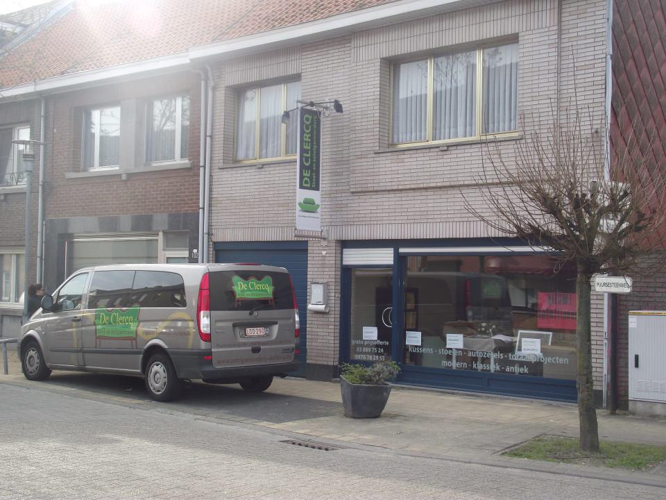 Winkel zetelgarnierderij De Clercq in Bornem